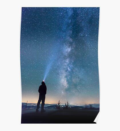 Stargazing - Great Smoky Mountains National Park, North Carolina Poster