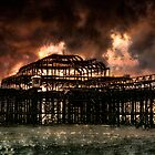 Storm Over The West Pier by Chris Lord