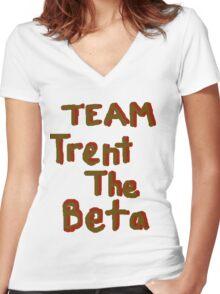 Team Trent The Beta Women's Fitted V-Neck T-Shirt