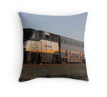 California Amtrak Commuter  Throw Pillow