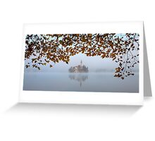 Misty Lake Bled Greeting Card