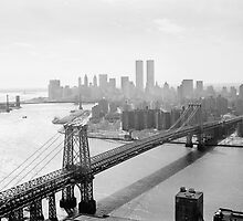 Photograph of NYC and The Williamsburg Bridge by BravuraMedia