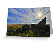 Dartmoor: The View From White Tor Greeting Card