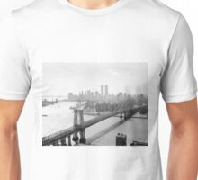 Photograph of NYC and The Williamsburg Bridge Unisex T-Shirt