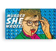 Murder SHE Wrote Mug Canvas Print