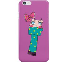 Cute Scarf Girl iPhone Case/Skin