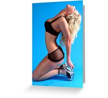 Lingerie Model.1 Greeting Card
