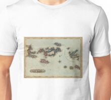 Vintage Map of The Virgin Islands (1823) Unisex T-Shirt