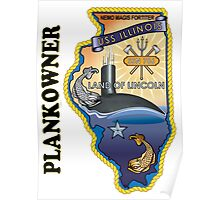SSN-786 USS Illinois Plank Owner Crest Poster