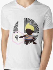 Lucas (Down Taunt, Blue/Orange) - Sunset Shores Mens V-Neck T-Shirt
