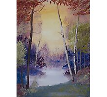 Lake with Trees Photographic Print