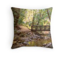 Bridge to the Falls Throw Pillow