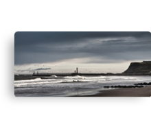 Whitby, west bay Canvas Print