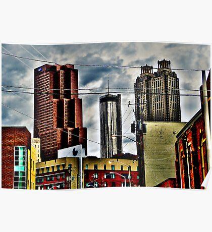 Downtown Atlanta, Georgia - January, 2012 Poster