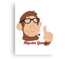 Hipster George Canvas Print