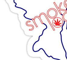 Smoke Local Weed in Maryland Sticker