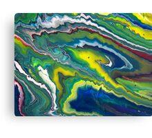 GREEN SLICE Canvas Print