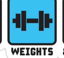 Sex, Weights and Protein Shakes Sticker