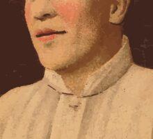 Benjamin K Edwards Collection Olaf Henriksen Boston Red Sox baseball card portrait Sticker