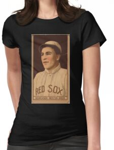 Benjamin K Edwards Collection Olaf Henriksen Boston Red Sox baseball card portrait Womens Fitted T-Shirt