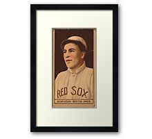 Benjamin K Edwards Collection Olaf Henriksen Boston Red Sox baseball card portrait Framed Print