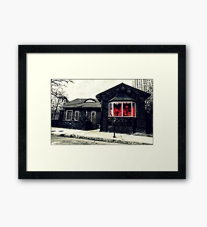 Let's go down to The Metro and have drinks and talk about life Framed Print