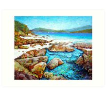 Rockpool at Chalkie's Beach Art Print