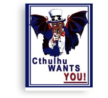 Cthulhu Wants You! Canvas Print