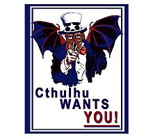 Cthulhu Wants You! Photographic Print