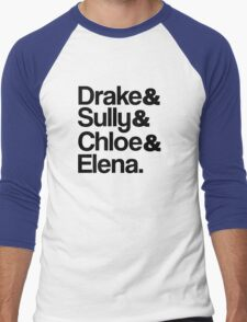 Drake & Sully & Chloe & Elena. Men's Baseball ¾ T-Shirt