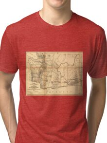 Vintage Map of Washington State (1866) Tri-blend T-Shirt