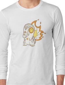 Cyndaquil Pokemuerto | Pokemon & Day of The Dead Mashup Long Sleeve T-Shirt