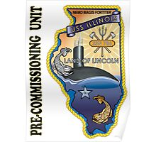 SSN-786 USS Illinois Pre-commissioning Unit Crest Poster
