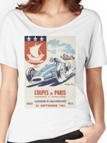 Old Racing Poster Coupes de Paris Women's Relaxed Fit T-Shirt