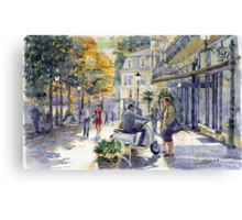 Baden-Baden Sophienstr Last Warm Day Canvas Print