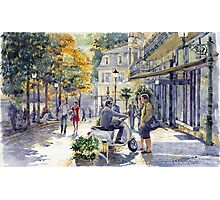 Baden-Baden Sophienstr Last Warm Day Photographic Print