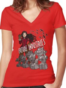 Future Industries Women's Fitted V-Neck T-Shirt