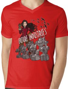 Future Industries Mens V-Neck T-Shirt