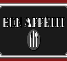 Bon Appétit Art Deco Style Sign by CecelyBloom