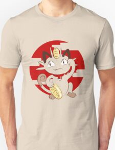 Lucky Meowth. Unisex T-Shirt