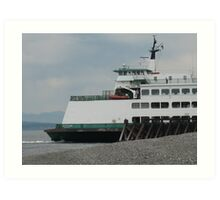 Outbound Ferry Art Print