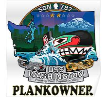 SSN-787 USS Washington Plank Owner Crest Poster