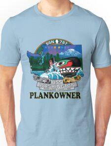 SSN-787 USS Washington Plank Owner Crest Unisex T-Shirt