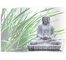 buddha (grass) Poster