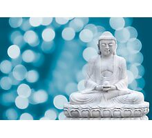 buddha lights (cyan) Photographic Print