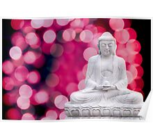 buddha lights (blue red) Poster