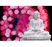 buddha lights (blue red) Photographic Print