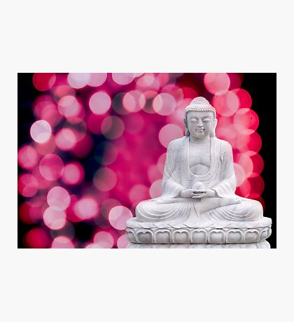 buddha lights (blue red) Photographic Print