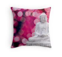 buddha lights (blue red) Throw Pillow