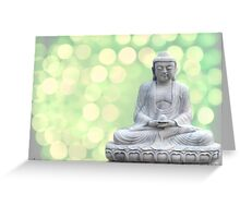 buddha lights (green) Greeting Card